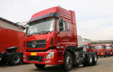10 Wheels Heavy Trader Tractor Trailer، Dongfeng 375HP رأس جرار شاحنة